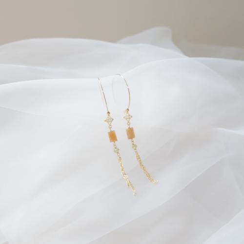 大圈古典耳環 – 太陽石