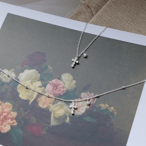 十字架珍珠項鍊