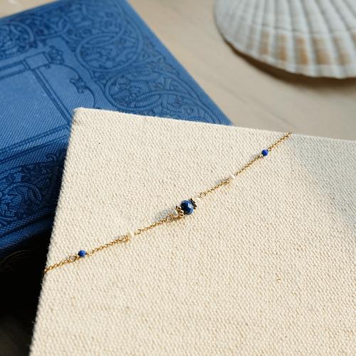 經典寶石手鍊 – 青金石
