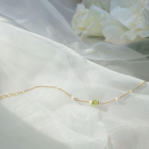 經典寶石手鍊 – 橄欖石