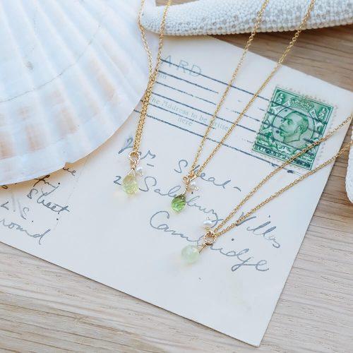 經典水滴寶石 – 橄欖石 | 黃水晶 | 葡萄石