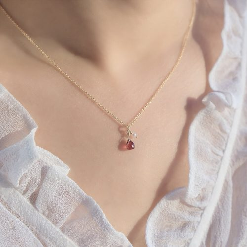 經典水滴寶石 – 紅石榴 | 粉晶