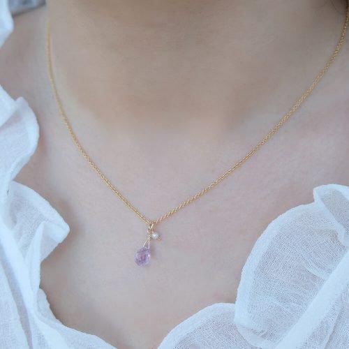 經典水滴寶石 – 紫水晶