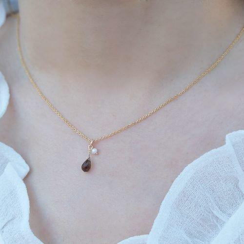 經典水滴寶石 – 拉長石 | 茶晶