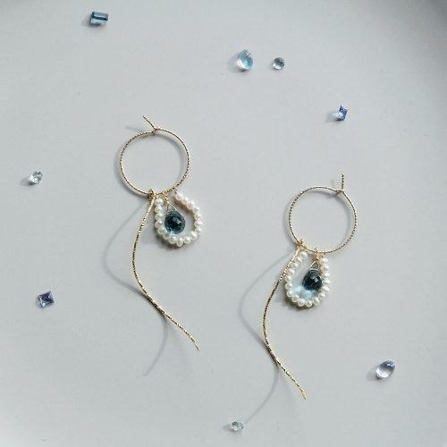 星塵 – 倫敦藍耳環