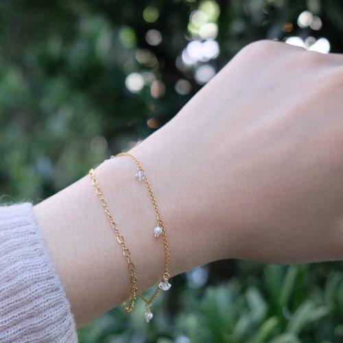 星塵 – 雙鍊白水晶手鍊