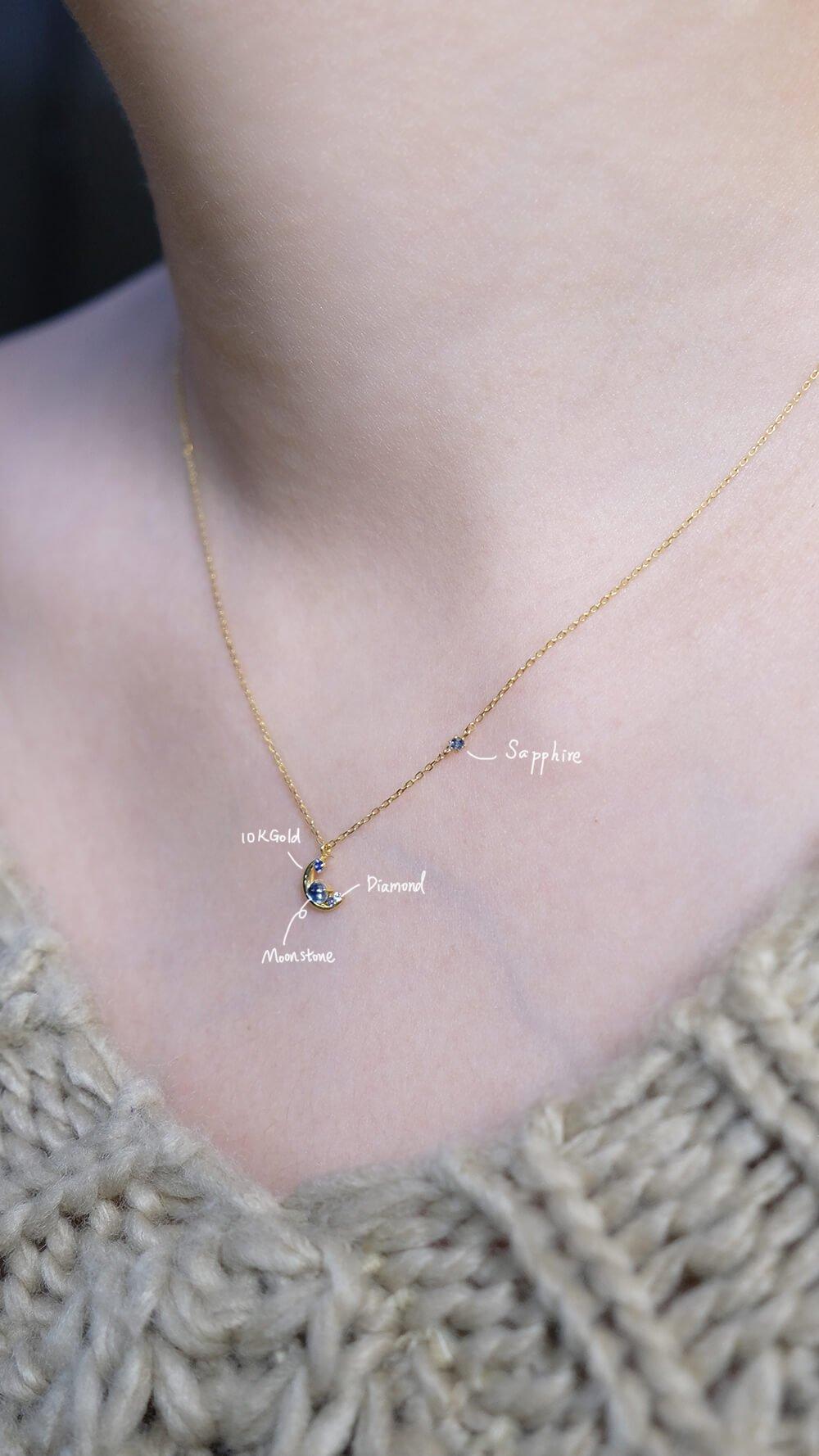 月光石輕珠寶項鍊
