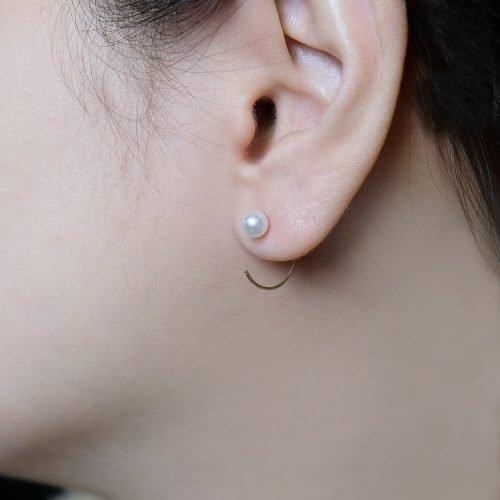 小圓珍珠耳勾