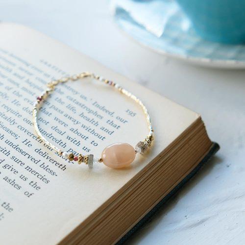 經典大寶石  – 黃銅太陽石手鍊