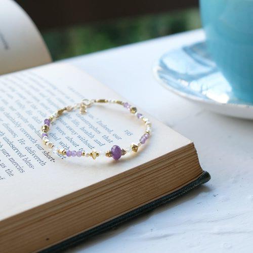 花園尋寶家  – 黃銅紫水晶手鍊