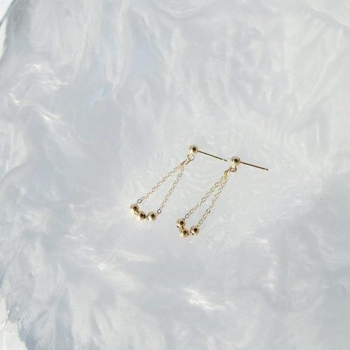 14K包金 – 小金珠耳環