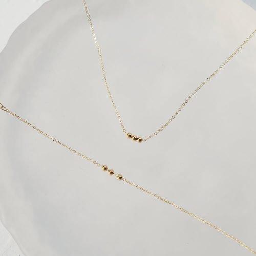 14K包金 – 小金珠手鍊