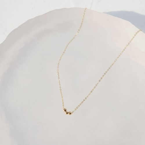 14K包金 – 小金珠項鍊