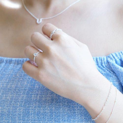 純銀雙鍊手鍊