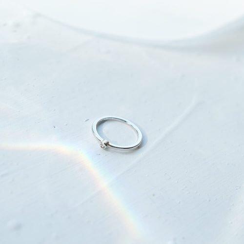 純銀小圓鑽