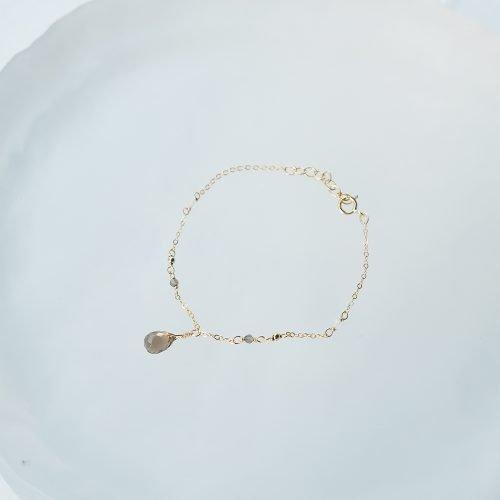 華麗小水滴 – 茶晶手鍊