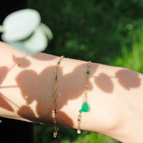 華麗小水滴 – 綠玉髓手鍊