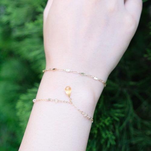 華麗小水滴 – 黃水晶手鍊
